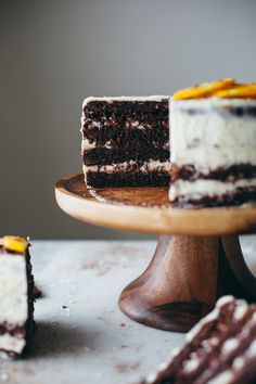 Chocolate Macaroon Cake with Orange Buttercream (recipe) / by Molly Yeh
