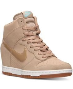 7c6cca6fefb8 Nike Women s Dunk Sky Hi Essential Casual Sneakers from Finish Line Hidden Wedge  Sneakers