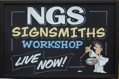 London sign painting workshop