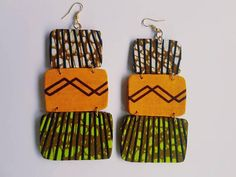 Check out this item in my Etsy shop https://www.etsy.com/uk/listing/545741555/tiered-ankara-earrings