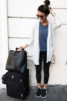 7b8cd85e8cfc 33 Airplane Outfits Ideas  How To Travel In Style