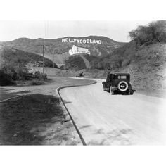Hollywoodland Los Angeles 1924 Wood Sign