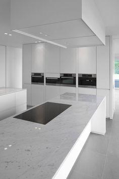 minus, the essence of living (esen) Barn Kitchen, Kitchen Room Design, Luxury Kitchen Design, Home Decor Kitchen, Kitchen Living, Modern House Design, Kitchen Furniture, Interior Design Living Room, Modern Kitchen Interiors