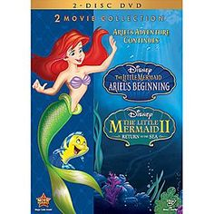 The Little Mermaid II + The Little Mermaid: Ariel's Beginning 2-Movie DVD Collection | Disney Store Share double the enchantment with <i>The Little Mermaid: Ariel's Beginning</i> and <i>The Little Mermaid II: Return to the Sea</i> and enjoy an ocean full of adventure with all your favorite characters from the Disney classic!