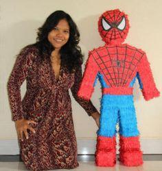 I and Spiderman Pinata - Bali Kids Party - Pinata