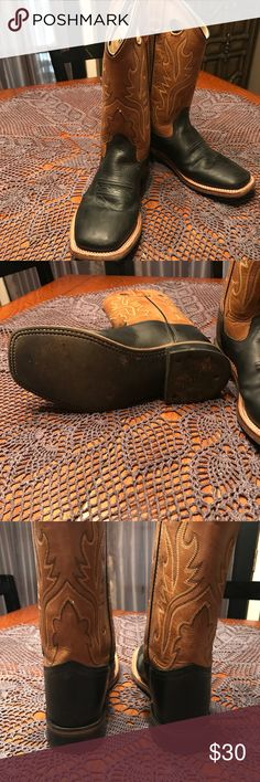 Boys Cowboy Boot Youth Sz 4.5 boys cowboy boots. Worn one time for a wedding. Brown and black. Excellent condition Shoes Boots