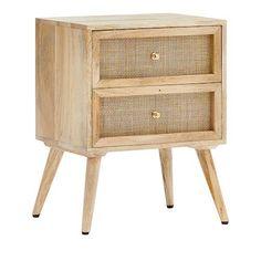 Home Republic - Anjuna Collection Bedside Table Cane Furniture, Custom Furniture, Wood Nightstand, Bedside Drawers, Nightstands, Home Republic, Wood Bedroom, Bedroom Ideas, Master Bedroom