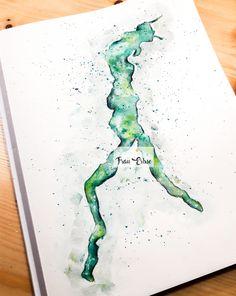 Aquarell, Watercolour, Italien, Comer See, See, Lagos, Italia, Italy, Lake, Comer Lake