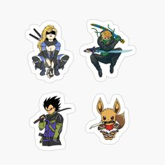Cool Stickers, Assassin, Sticker Design, Top Artists, Samurai, My Arts, Packing, Art Prints, Printed