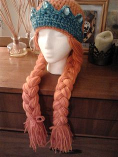 My niece is on another hunt for the next hat. This looks promising.  Ravelry: ediebeadie's Princess Merida Inspired Hat