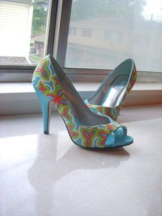 tiger lily hand painted shoes