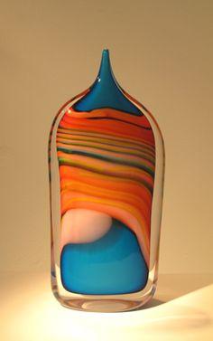 Peter Layton  Skyline, Tall Dropper  blown glass   -  via:  http://glassglassglass.tumblr.com