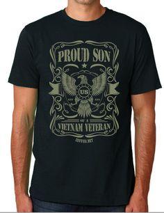 'Proud Son of a Vietnam Veteran' Unisex Tee | We Add Up - http://weaddup.com/collections/covvha-shop/products/proud-son-unisex-t-shirt-organic-cotton