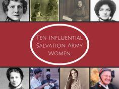 Ten Influential Salvation Army Women