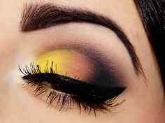 Yellow and black eyeshadow