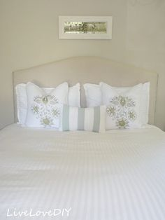 How To Make an Upholstered Headboard With a Drop Cloth