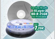 #Blu-ray BD-R SL 25GB 4X XLayer Tarrina 10 uds.   https://www.pinterest.com/opirata/promociones-boletines/