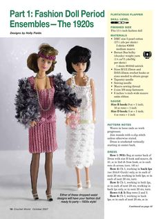 Fashion Doll Period Ensembles - The 1920s - D Simonetti - Picasa Web Albums. FREE