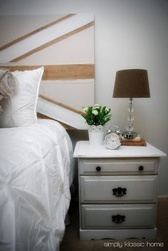 Union jack headboard made out of a door!