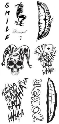 The Joker Suicide Squad Tattoo Sheet - Free Printable!
