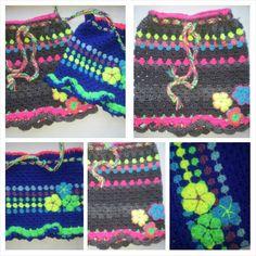 Neon happy skirt ooakbyc