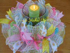 Hey, I found this really awesome Etsy listing at https://www.etsy.com/listing/264633740/pastel-easter-table-deco-mesh