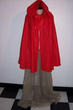 LITTLE-RED-RIDING-Hood-Cape-w-Hood-3-price-options-Warm-Fleece-Adult-Kids-Cloak