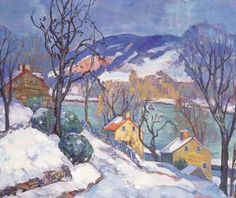 """""""By the Delaware, Winter,"""" Fern Isabel Coppedge, oil on canvas, 20 x 24"""", private collection."""