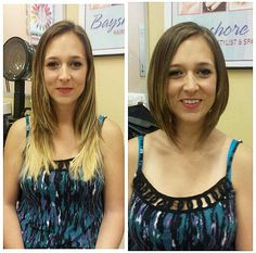 See what a haircut can do? Look at how it opens her upper body. Shoulders. Confidence. Forehead. <3