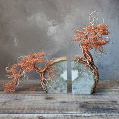 "Outstanding ""metal tree art wall"" detail is offered on our internet site. Wire Art Sculpture, Tree Sculpture, Art Sculptures, Metal Tree Wall Art, Metal Art, Bonsai Wire, Agate Bookends, Wire Flowers, Wire Trees"