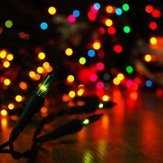 Colorful Christmas Lights Bokeh iPad Wallpaper HD