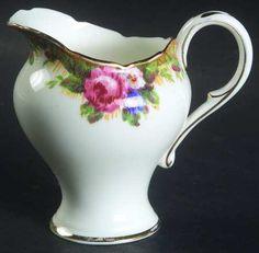 Paragon Tapestry Rose-White Mini Creamer