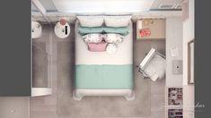 Tiny Bedroom Design, Small House Interior Design, Home Room Design, House Design, Teen Bedroom, Bedroom Decor, Stationary Storage, House Rooms, Boy Room