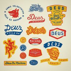 Deus Decals - selected graphics from several years of collabs with @deuscustoms