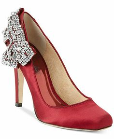 ABS by Allen Schwartz Sabrena Bling Bow Pumps - Clearance - Shoes - Macy's