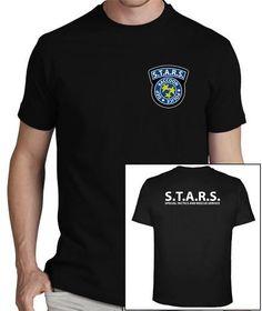 Camiseta imprescindible para los fans de #ResidentEvil! #STARS #RaccoonCity #police #department #zombies #apocalipsis #jillvalantine #claireredfield #camiseta #tshirt Zombies, Police, Fans, Mens Tops, T Shirt, Fashion, Shirts, Tee, Moda