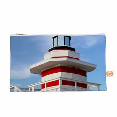 """Philip Brown """"Lighthouse Lifeguard Stand"""" Blue Photography Everything Bag"""