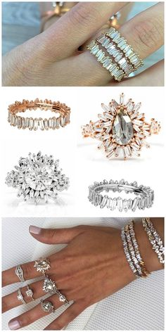 Diamonds in the Library's most popular posts of 2015 - the Suzanne Kalan Devoted collection. Engagement rings and wedding bands in Kalan's signature use of baguette diamonds.