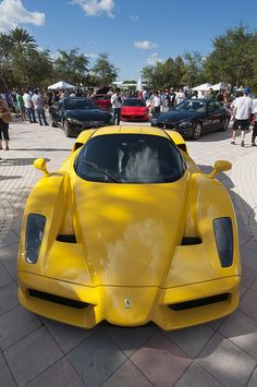Does it get more gorgeous than this #Ferrari in bright yellow? #Italian #SuperCars #Speed #Power #Style #Design #Luxury