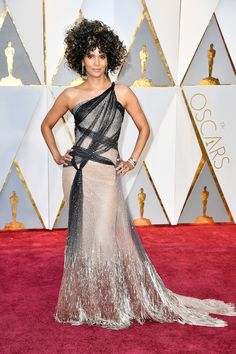 Halle Berry in a Versace spring 2017 couture gown