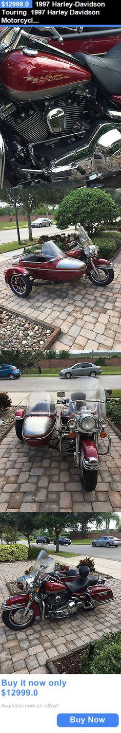 Motorcycles: 1997 Harley-Davidson Touring 1997 Harley Davidson Motorcycle Road King Sidecar Custom Cruiser BUY IT NOW ONLY: $12999.0