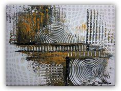 BURGSTALLER Acrylbild Leinwandbild Gold Silber Leinwand abstrakte Malerei Bilder