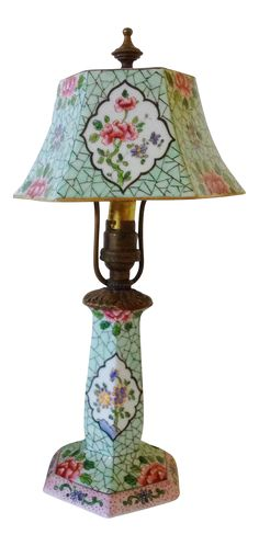 Chinoiserie Style French Boudoir Lamp on Chairish.com