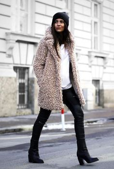 This teddy coat makes the outfit.