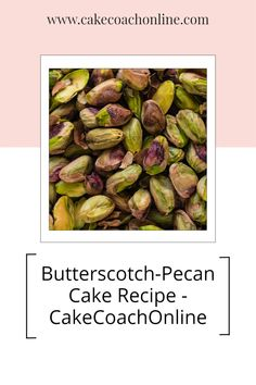 Here is a great recipe for a Butterscotch Pecan Cake. Go read our blog to discover the ingredients list and the method. Delicious. Why not save this pin to your favourite Cake Tips board too.