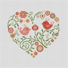 Etamin Şablonları Kalp Desenleri 39