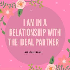This is amazing to find the ideal life partner that will support you, cherish yo. Positive Affirmations Quotes, Wealth Affirmations, Morning Affirmations, Law Of Attraction Affirmations, Affirmation Quotes, Positive Quotes, Partner Quotes, Mindfulness Quotes, Relationship Goals