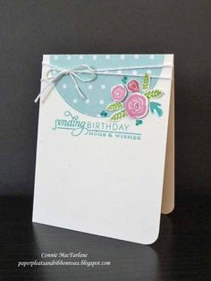 Paper Pleats and Ribbon Roses: Cards - Papertrey