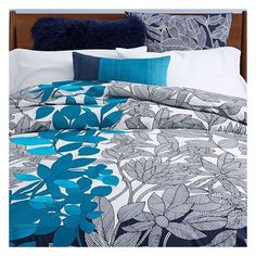 West Elm Organic Embroidered Vine Duvet Cover, Twin, Blue Teal ($97) ❤ liked on Polyvore featuring home, bed & bath, bedding, duvet covers, west elm, west elm duvet, teal shams, twin duvet and blue twin bedding
