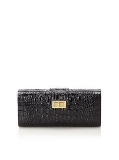 Kate spade new york one in a million business card holder cc skye womens long board clutch black croc http colourmoves
